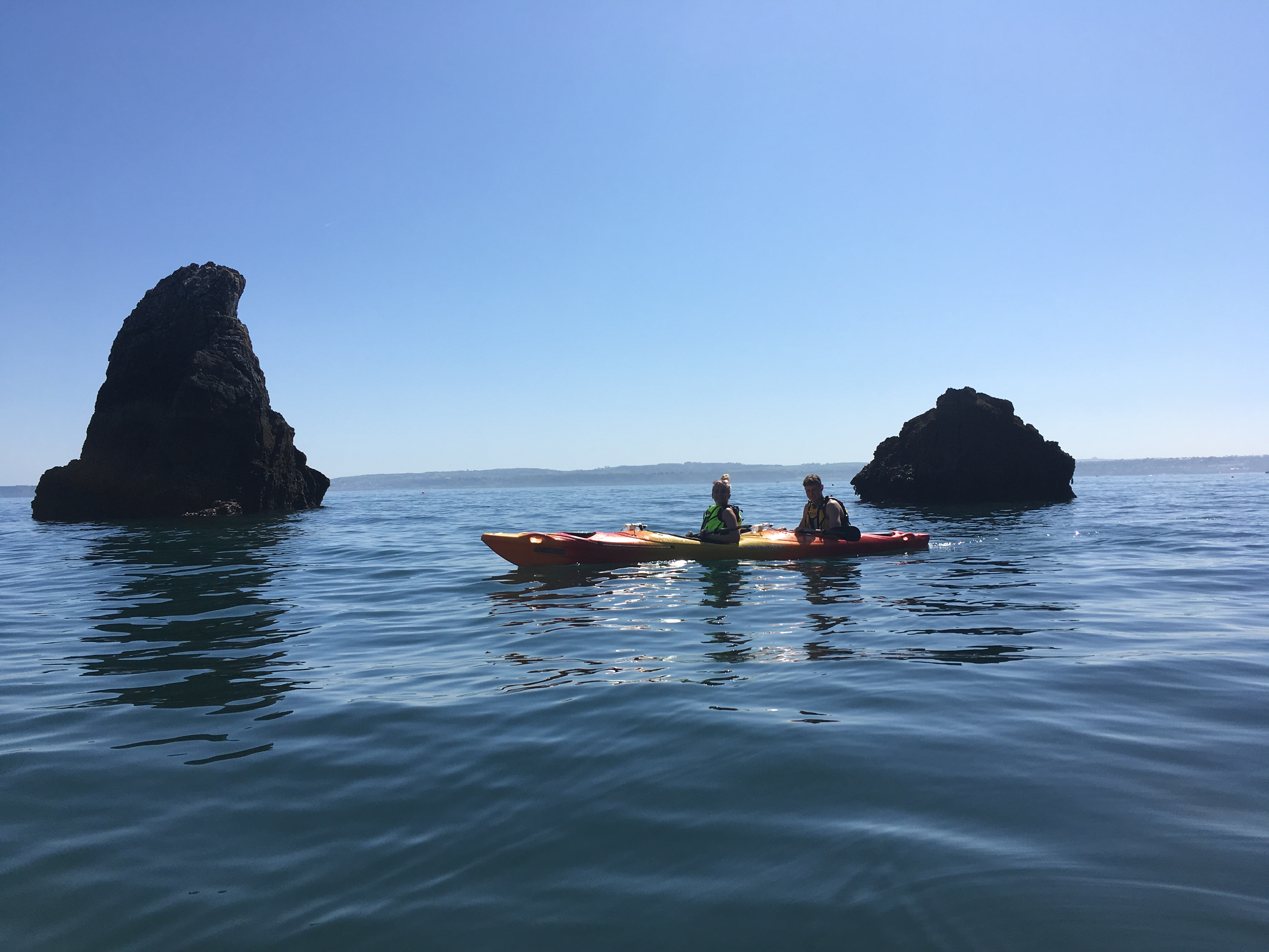 Sea Kayaking around Shag Rock, Torquay