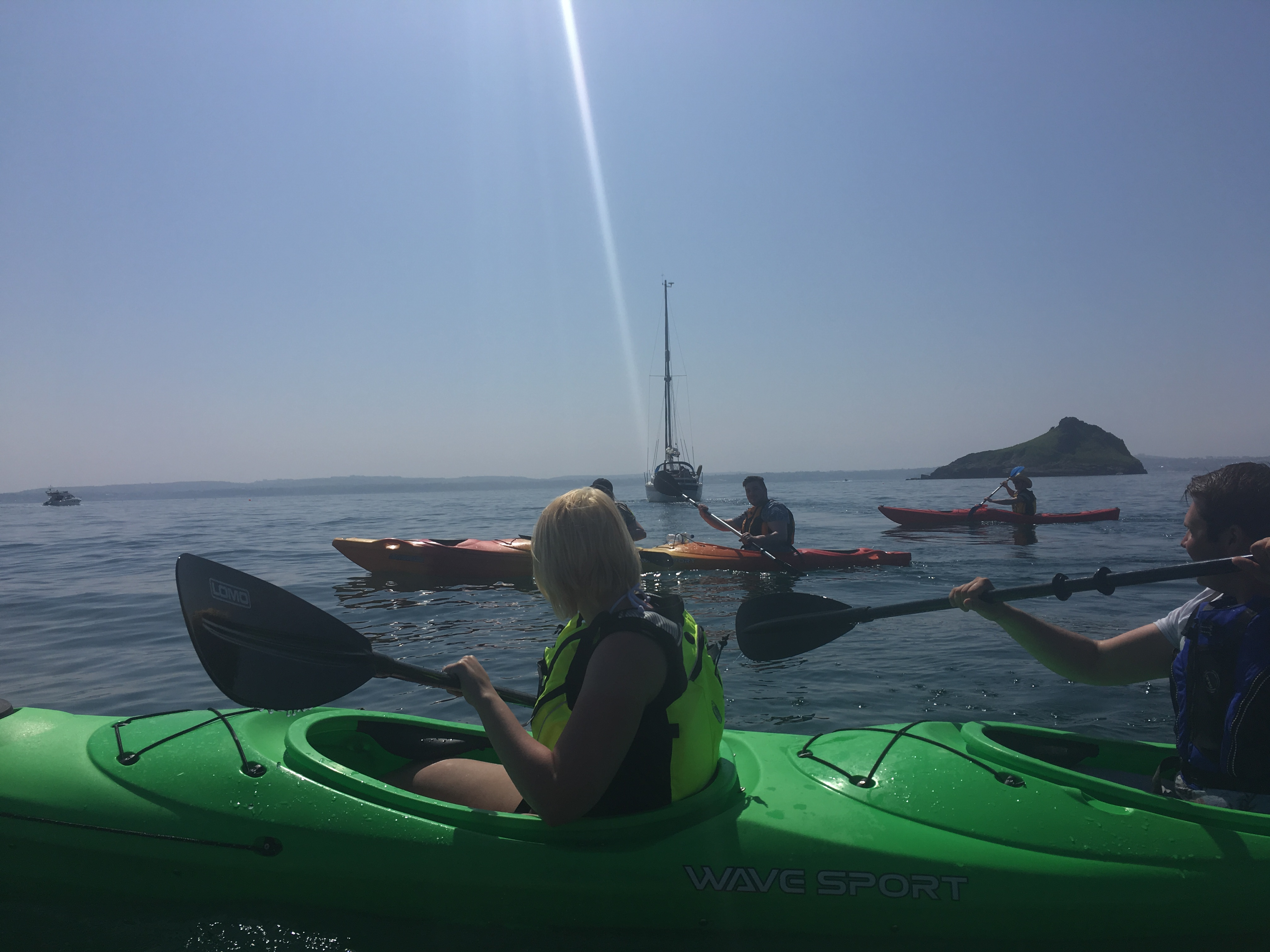 Kayak Tour out to the Orestone Rock, Torquay